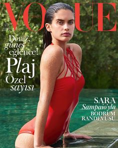 Supermodel Sara Sampaio takes the cover of Vogue Turkey's June 2017 edition captured by fashion photographer Liz Collins and styled by Konca Aykan
