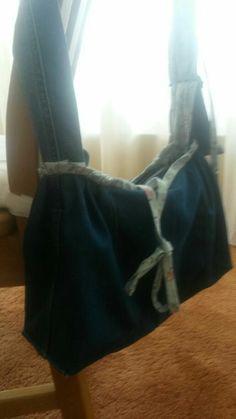 Tas voor mijn schoonmoeder gemaakt van jeans😊