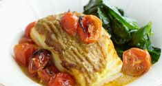 cod with green curry and tomato-- Pascale Naessens