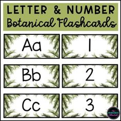 Number Flashcards, Natural Design, Alphabet And Numbers, Kindergarten Teachers, Worksheets, Lettering, Nature, Beautiful, Products