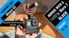 Ulanzi Case Gopro Hero 7 With External Mic Adaptor. Gopro Case, Camera Case, Newest Gopro, Gopro Video, Video Lighting, Selfie Stick, Gopro Hero, Camera Accessories, Science And Technology