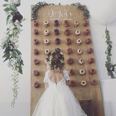 """""""Donut wall wedding trend will earn you major guest points"""" - I couldn't agree…"""