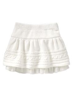 Cable knit skirt | Gap