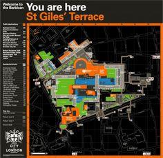 Barbican Estate Maps   Designer: Cartlidge Levene   Image 1 of 2