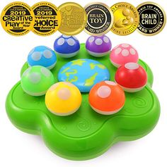 BEST LEARNING Mushroom Garden - Interactive Educational Light-Up Toddler Toys for 1 to 3 Years Old Infants Toddlers - Colours Numbers Games Music for Kids Figures-Vehicles Figures Dress-Accessories Dress Dress-Accessories Dress Dolls-Accessories Toys Learning The Alphabet, Learning Toys, Christmas Gifts For Girls, Gifts For Boys, Christmas 2019, Kids Christmas, 1 Year Old Girl, Toys For 1 Year Old, Educational Toys For Toddlers