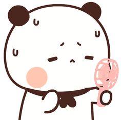Cute Love Images, Cute Love Gif, Little Panda, Dibujos Cute, Kawaii Illustration, Chibi, Hello Kitty, Cute Stickers, Panda Bear