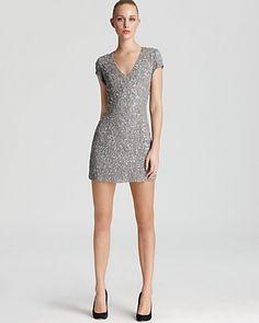 Parker Dress - Sequin V Neck -