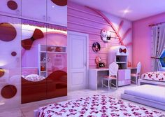 Modern Hello Kitty Bedroom Design