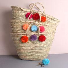Mixed Pom Pom Basket