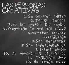 Las personas creativas