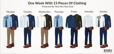 One Week With 13 Pieces Of Clothing 1