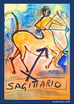 Sagittario by Elisabetta Chiappino illustrazioni ° Il Segno zodiacale del SAGITTARIO è il nono segno dello zodiaco  23 Novembre - 21 Dicembre