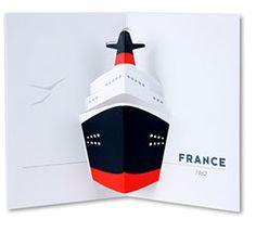 carte pop-up bateau