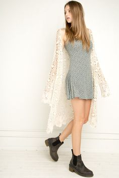 Brandy ♥ Melville | Tacie Lace Crochet Cardigan - Clothing