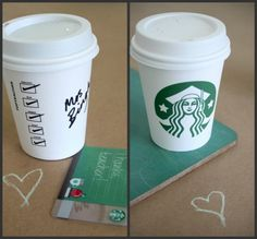 Starbucks teacher gift card coffee cup thank you printable --  <3!!!