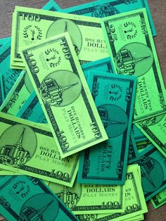 Fake money we used for a YM/YW Activity.  Free printable