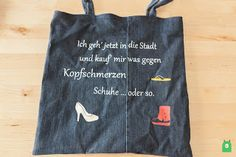 Tasche aus alter Jeans / Totebag made from old pair of jeans / Upcycling