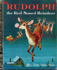 Large format Big Golden Book, Rudolph the Red-Nosed Reindeer by Barbara Shook Hazen, adapted from the story by Robert May. Illustrated by Richard Scarry. Good vintage condition, no marked or torn pages. Wear to cover at corners and spine. Childrens Christmas, Christmas Books, A Christmas Story, Childrens Books, Vintage Christmas, Kid Books, Rudolph Christmas, Story Books, Etsy Christmas