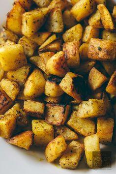 #Vegan Curried Pan-Crisped Potatoes