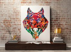 Wolf 2 Print Wolf poster watercolor animal by Antsartworkoffice