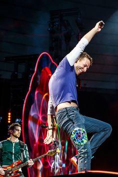 Chris Martin and Guy Berryman, Coldplay, AHFOD Tour, Paris, 15 July 2017.