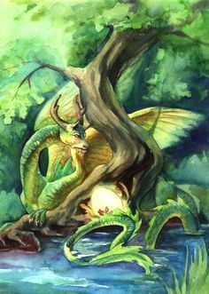 Forest dragon by ~benu-h on deviantART