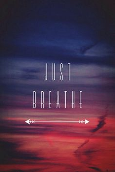 Just breath lock screen wallpaper