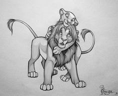 Simba and Kiara by OmegaLioness - The Lion King Kiara Lion King, Simba Et Nala, Roi Lion Simba, Lion King 4, Lion King Fan Art, Lion King Movie, Le Roi Lion, Disney Lion King, King 3