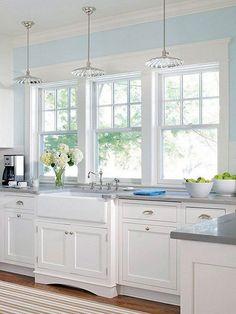 Elegant White Kitchen Interior Designs. Kitchens With White CabinetsCream  CabinetsWindow Over SinkWindow ...