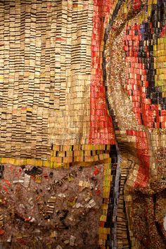 El Anatsui's monumental installation art is beyond breathtaking - check out more pics on my blog! Photo ©Kelly Stock.