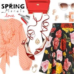 Spring Outfit by dressedbyrose on Polyvore featuring Temperley London, Dolce&Gabbana, Kate Spade, Oscar de la Renta, Burberry, Spring, ootd and polyvoreeditorial