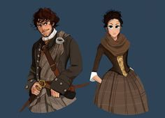 Outlander Jamie and Claire Claire Fraser, Jamie Fraser, Jamie And Claire, Outlander Fan Art, Outlander Series, Outlander Casting, Diana Gabaldon, Fangirl, Estilo Disney