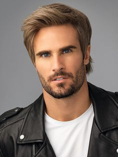Men's Wigs - Edge has a longer front, shattered back and shorter sides that give this style just the right amount of toughness and can be styled into a variety of looks. Trendy Mens Hairstyles, Cool Haircuts, Haircuts For Men, Cool Hairstyles, Barber Haircuts, Hipster Hairstyles, Medium Haircuts, Men's Haircuts, Popular Haircuts