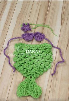 Newborn Crochet Mermaid Set  Photography by DanasCustomCrochet, $45.00