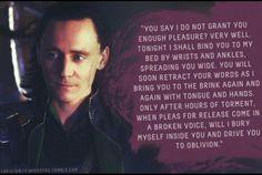 Loki's Dirty Whispers. Tom and Loki.