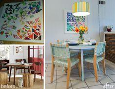 dining table. west elm. diy wall art.