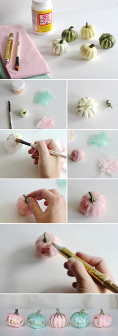 Halloween DIY: How to make tissue paper mini pumpkins