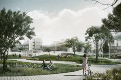 COBE plans vast undulating square for the university of copenhagen