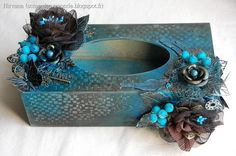 A magnificent handkerchiefs box by Nirvana! - Creative Embellishments