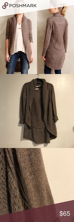 Anthropologie Angel of the North Cocoon Cardigan Brown Deni Cocoon cardigan from Anthropologie brand Angel of the North. Size medium. Good pre worn condition. Light pilling on the sleeves, otherwise very good condition and no other flaws to note. Color is more true to stock photos. No trades! Anthropologie Sweaters Cardigans