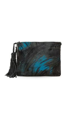 Simone Camille The Dash Clutch with Haircalf~ Quite artistic and unique.