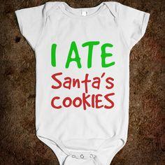 I Ate Santa's Cookies Baby One-Piece