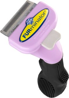 FURminator Long Hair deShedding Edge For Cats - Reduces hairballs, vet recommended, reduces shedding by 90%, ejector button, designed by a groomer! #Cat #Grooming