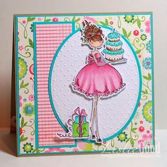Uptown Girl Ava Loves To Celebrate, image Stamping Bella