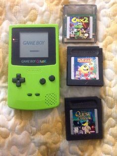 Nintendo Gameboy Color Kiwi Green Console Includes Croc 2 And More Games 45496710804 | eBay