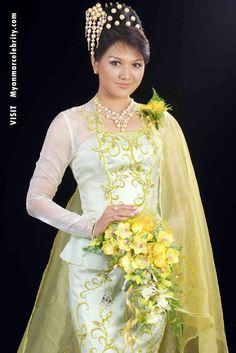 Thet Mon Myint In Burmese Wedding Dress | Myanmar Movie Stars, Actors and Actress