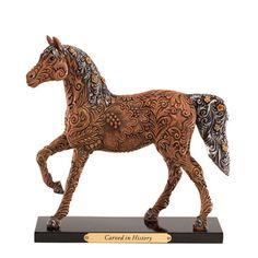 Painted Ponies Carved in History Figurine