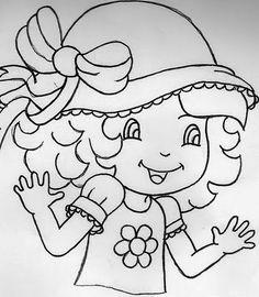 Artes da Nil - Riscos e Rabiscos: Bonecas Moranguinho com chapéu.