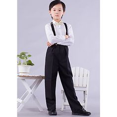 Ring Bearer Outfits Four Pieces Clothing Set with Suspenders (1145556) – USD $ 29.39