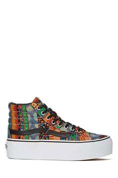 Nasty Gal | Vans Sk8-Hi Platform Sneaker #nastygal #platform #sneakers